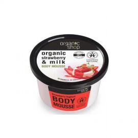 Organiczny Mus do Ciała, Truskawki i Mleko, 250ml