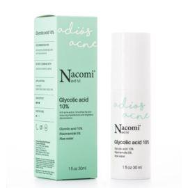 Serum do Twarzy Next Level z Kwasem Glikolowym 10% Peelingujące, Nacomi, 30 ml