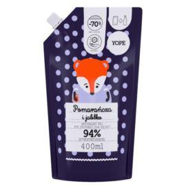 Naturalny Żel pod Prysznic dla Dzieci, Pomarańcza i Jabłko, Refill Pack, Yope, 400 ml