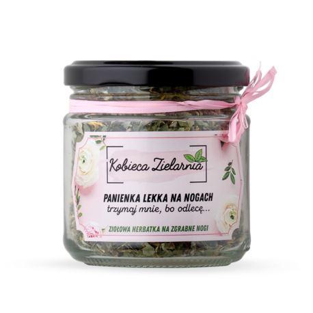 """Ziołowa Herbatka """"Panienka Lekka na Nogach, Trzymaj Mnie bo Odlecę"""", Moja Farma Urody, 25 g"""