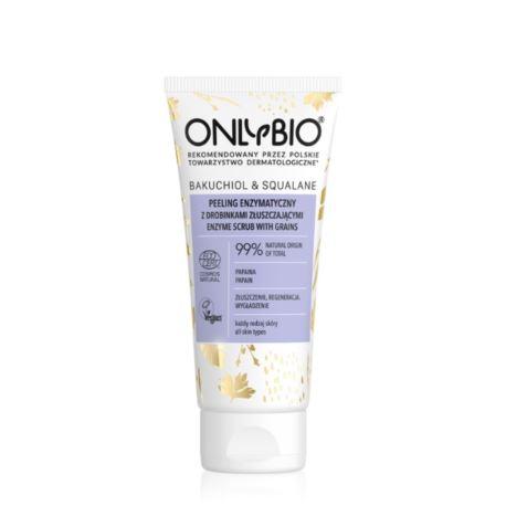 Enzymatyczny Peeling do Twarzy Bakuchiol & Squalane, OnlyBio, 75 ml