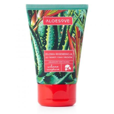Regenerujący Żel do Twarzy, Ciała i Włosów, Aloesove, 100 ml