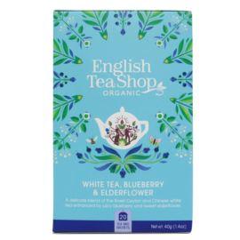 Herbata Biała z Czarnym Bzem i Borówką, English Tea Shop, 20 torebek