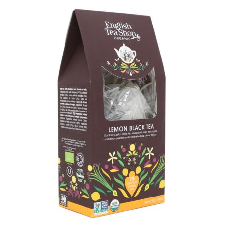 Herbata Lemon Black Tea, English Tea Shop, 15 piramidek