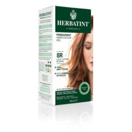 Trwała Farba do Włosów w Żelu, 8R Jasny Miedziany Blond, Herbatint, 150 ml