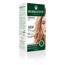 Trwała Farba do Włosów w Żelu, 10DR Jasny Miedziany Złoty Blond, Herbatint, 150 ml