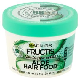 Nawilżająca Maska do Włosów Normalnych i Suchych, Aloe Hair Food, Garnier Fructis, 390 ml