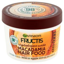 Wygładzająca Maska do Włosów Suchych i Niesfornych, Makadamia Hair Food, Garnier Fructis, 390 ml