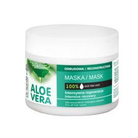 Odbudowująca Maska do Włosów z Aloesem, Dr. Sante, 300 ml