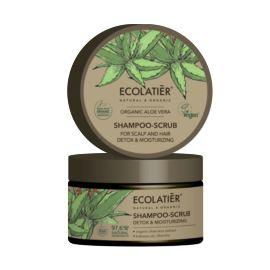 Szampon - Peeling do Skóry Głowy i Włosów, Detox i Nawilżenie, Organic Aloe Vera, Ecolatier, 300 g