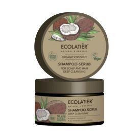 Szampon - Peeling do Skóry Głowy i Włosów, Głębokie Oczyszczenie, Organic Coconut, Ecolatier, 300 g