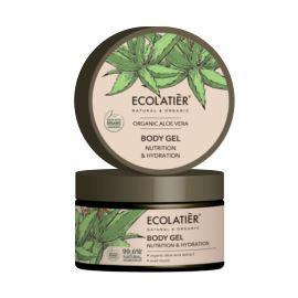 Żel do Ciała z Nawilżenie i Odżywienie z Aloesem i Śluzem Ślimaka, Organic Aloe Vera, Ecolatier, 250 ml