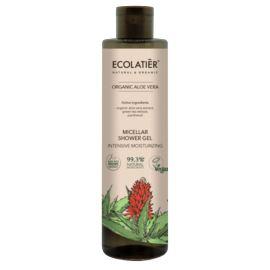 Micelarny, Nawilżający Żel Pod Prysznic z Zieloną Herbatą i Aloesem, Organic Aloe Vera, Ecolatier, 350 ml