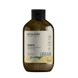 """Szampon do Włosów Cienkich """"Objętość i Blask"""", Proteiny i Aloes, Ecolatier, 600 ml"""