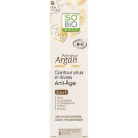 Przeciwzmarszczkowy Krem pod Oczy 5w1 z Olejem Arganowym, So'Bio Etic, 15 ml