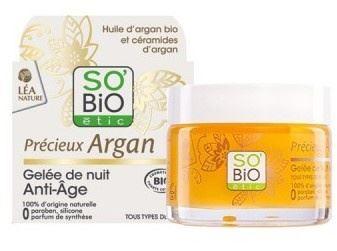 Przeciwzmarszczkowy Żel na Noc Olejem Arganowym, So'Bio Etic, 40 ml