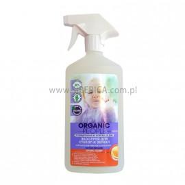 Spray Czyszczący do Szkła i Luster z Cytryną i Pomarańczą, Organic People, 500ml