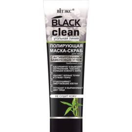 Polerująca Maska- Peeling do Twarzy z Węglem Aktywnym, Black Clean,75ml
