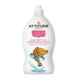 Bezzapachowy Płyn do Mycia Naczyń Dziecięcych, Attitude Little Ones, 700ml