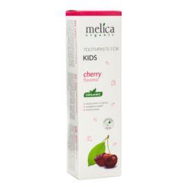 Pasta do Zębów Dla Dzieci o Smaku Wiśniowym, Melica Organic, 100ml