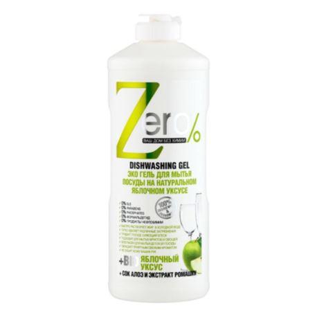 Żel do Mycia Naczyń, z Octem Jabłkowym, Zero, 500 ml