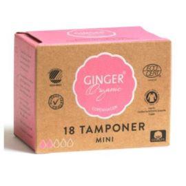 Tampony bez Aplikatora Mini Ginger Organic, 18 szt.