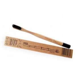 Bambusowa Szczoteczka do Zębów, Czarna – Średnia, Mohani