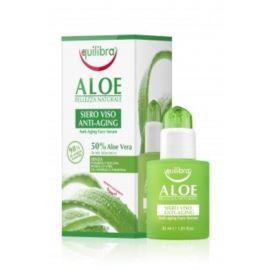 Aloesowe Przeciwstarzeniowe Serum do Twarzy, z Kwasem Hialuronowym, Equilibra, 30 ml