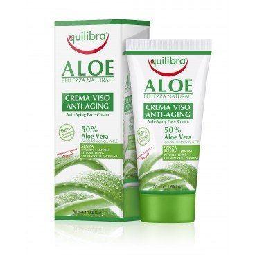 Przeciwstarzeniowy Krem do Twarzy, Aloes, Equilibra, 50 ml