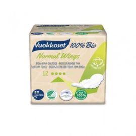 100% Bio Podpaski ze Skrzydełkami, Normal, Vuokkoset, 12szt