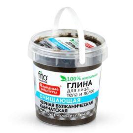 Czarna Oczyszczająca Glinka Wulkaniczna, do Twarzy Ciała i Włosów, Fitocosmetic, 155 ml