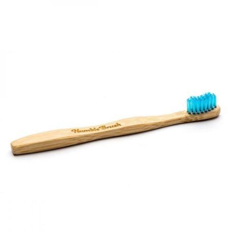 Bambusowa, Miękka Szczoteczka dla Dzieci, Niebieska, Humble Brush