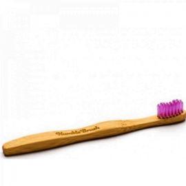 Bambusowa, Miękka Szczoteczka dla Dzieci, Fioletowa, Humble Brush