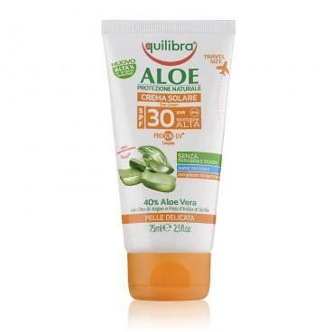 Aloesowy Krem Przeciwsłoneczny SPF 30, do Ciała, Equilibra, 75 ml