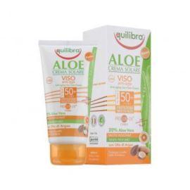 Aloesowy, Przeciwzmarszczkowy Krem Przeciwsłoneczny, SPF 50+, do Twarzy, Equilibra, 75 ml