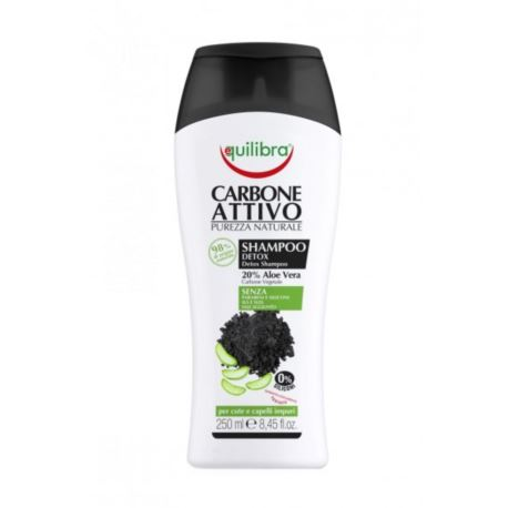 Szampon oczyszczający z węglem aktywnym, Equilibra, 250 ml