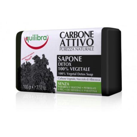 Mydło Oczyszczające z Węglem Aktywnym, Equilibra, 100 g