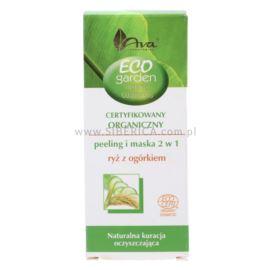 Oczyszczający Peeling i Maska 2w1, Ryż z Ogórkiem, Eco Garden, Ava Laboratorium, 30ml
