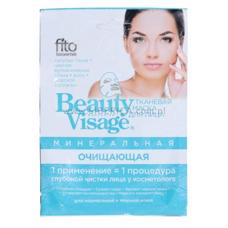 Oczyszczająca Maseczka Mineralna do Twarzy w Płacie, Beauty Visage, Fitocosmetics, 25ml