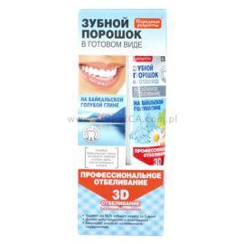 Proszek do Mycia Zębów w Postaci Pasty, Wybielanie 3D, Fitokosmetik, 45ml