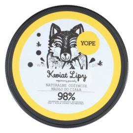 Naturalne, Odżywcze Masło do Ciała, Kwiat Lipy, Yope, 200ml