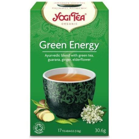 Herbata Ekspresowa Zielona Energia,Yogi Tea, 17 saszetek
