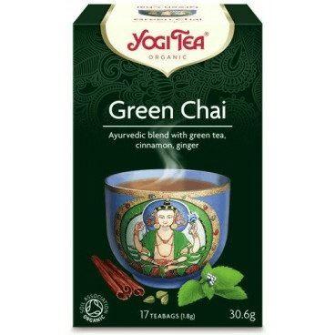 Herbata Ekspresowa Zielony Czaj, Yogi Tea, 17 saszetek