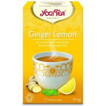 Herbata Imbirowo Cytrynowa, Ginger Lemon, Yogi Tea, 17 saszetek