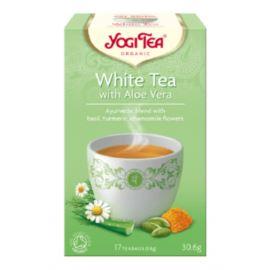 Herbata Biała z Aloesem, White Tea, Yogi Tea, 17 saszetek