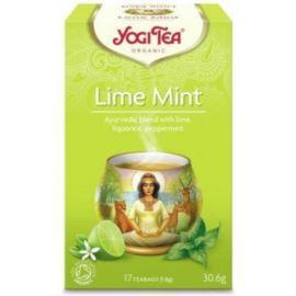 Herbata Ziołowa Limonka z Miętą, Yogi Tea, 17 saszetek