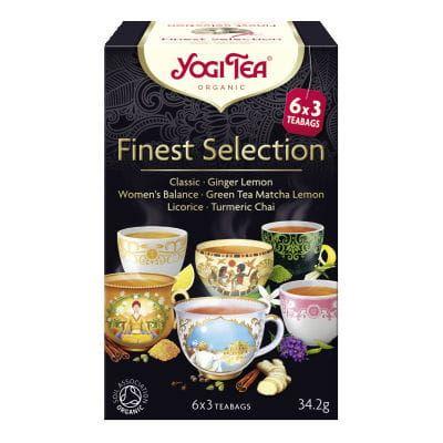 Herbata Ekspresowa Mix, Finest Selection, Yogi Tea, 17 saszetek