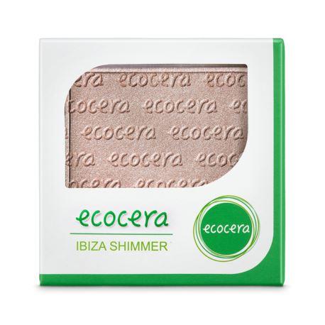 Puder Rozświetlający Prasowany Ibiza Shimmer, Ecocera, 10g