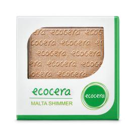 Puder Rozświetlający Prasowany Malta Shimmer, Ecocera, 10g