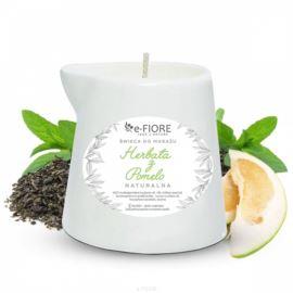 Świeca do Masażu Herbata z Pomelo, E-fiore, 130 ml